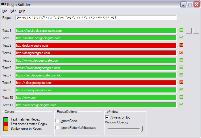 Regular Expression pattern to filter url addresses